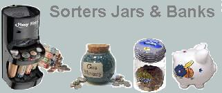 Coin Sorters Jars & Banks
